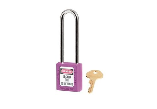 Zenex safety padlock purple 410LTPRP