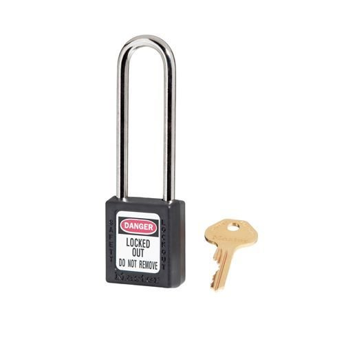 Zenex safety padlock black 410LTBLK