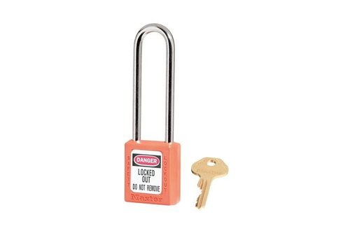 Zenex safety padlock orange 410LTORJ