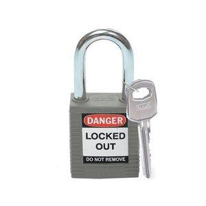 Brady Nylon safety padlock grey 814113
