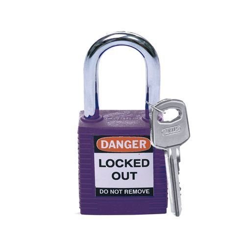 Nylon safety padlock purple 813637