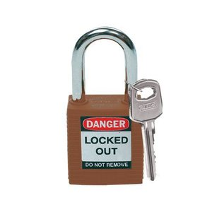 Brady Nylon safety padlock brown 813636