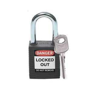 Brady Nylon safety padlock black 051353