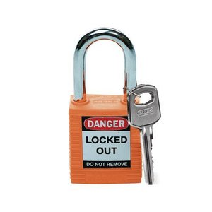Brady Nylon safety padlock orange 051347