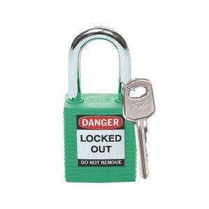 Brady Nylon safety padlock green 051345