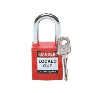 Brady Nylon safety padlock red 051339