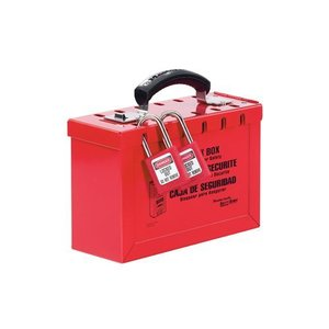 Master Lock Group lock-out box 498A