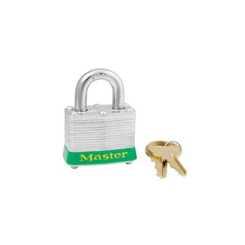 Laminated steel padlock green 3GRN