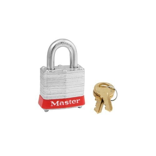 Laminated steel padlock red 3RED