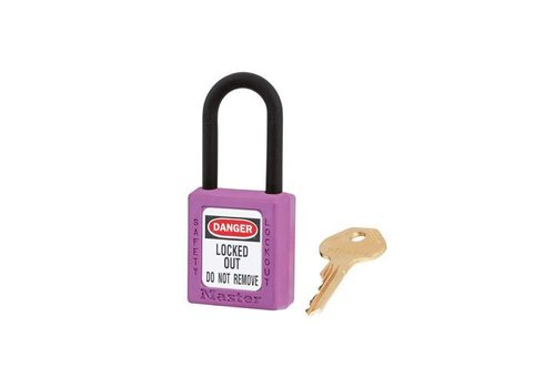 Zenex safety padlock purple 406PRP