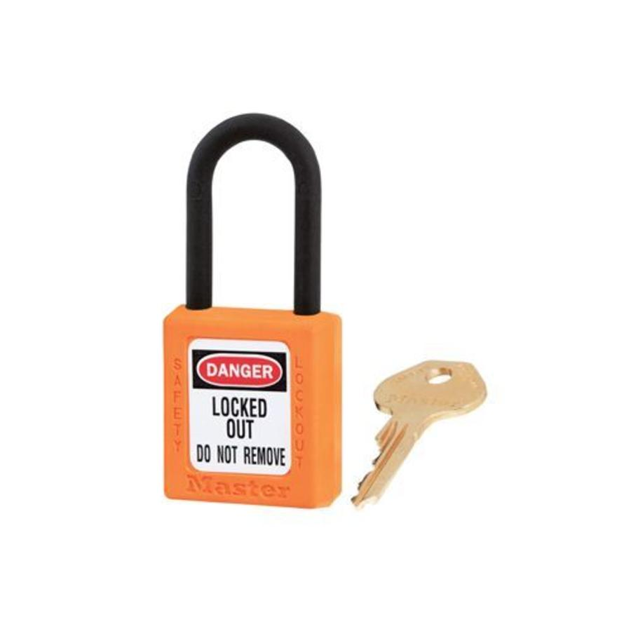 Zenex safety padlock orange 406ORJ, 406KAORJ