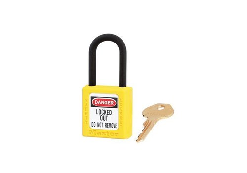 Zenex safety padlock yellow 406YLW