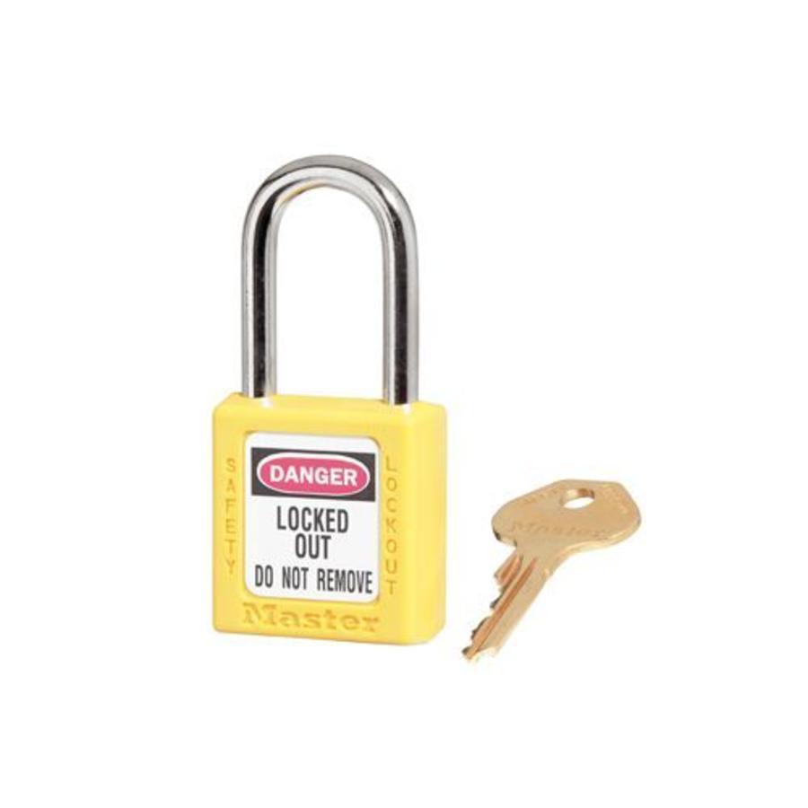 Zenex safety padlock yellow 410YLW, 410KAYLW