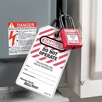 Laminated lock-out tags (12 psc) 497A
