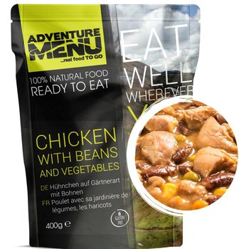 Adventure Menu Chicken with beans and vegetables ready to eat