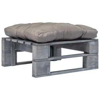 SG Tuinpoef met grijs kussen pallet hout grijs
