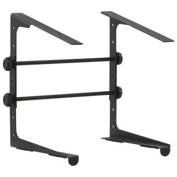 SG Laptopstandaard 30,5x28x(24,5-37,5) cm staal zwart