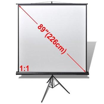 SG Projectiescherm wit + statief 160 x 160 cm (1:1 formaat)