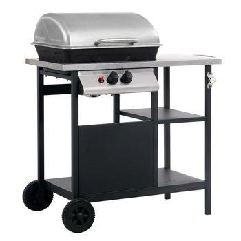 SG Gasbarbecue met 3-laags zijtafel zwart en zilverkleurig