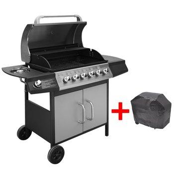 SG Gasbarbecue 6+1 kookzone zwart en zilver