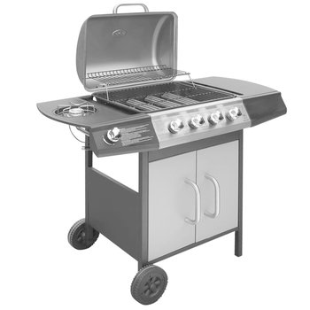 SG Gasbarbecue 4+1 kookzone zwart en zilver