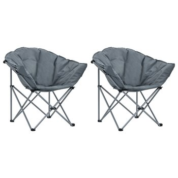 SG Maanstoelen inklapbaar 2 st grijs