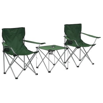 SG Campingtafel en -stoelenset groen 3-delig