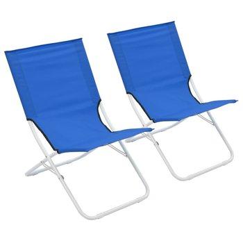 SG Strandstoelen 2 st inklapbaar blauw