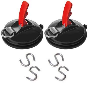 ProPlus 2 st Zuignapbevestigingen met ringen en 4 S-haken