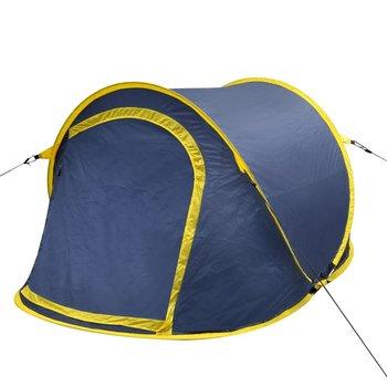SG Pop-up tent 2 personen marineblauw / geel