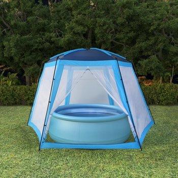 SG Zwembadtent 500x433x250 cm stof blauw