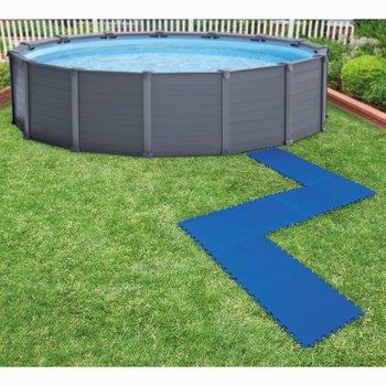 Intex Zwembadbodembeschermers 8 st 50x50 cm blauw