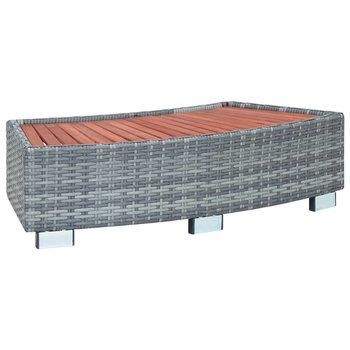 SG Spa trapje 92x45x25 cm poly rattan grijs