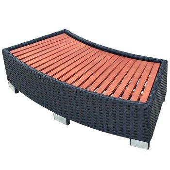 SG Spa trapje 92x45x25 cm poly rattan zwart