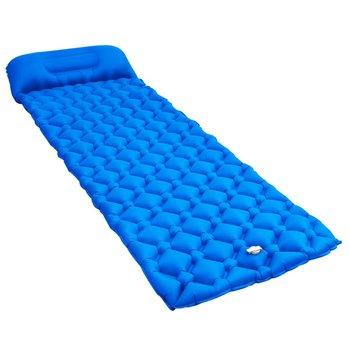 SG Luchtmatras met kussen opblaasbaar 58x190 cm blauw