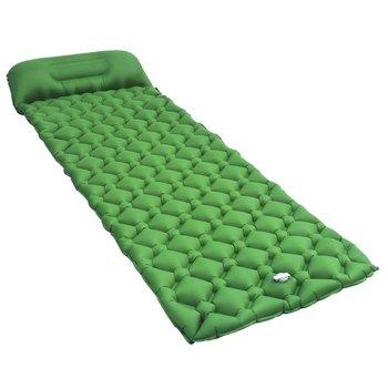 SG Luchtmatras met kussen opblaasbaar 58x190 cm groen