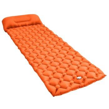 SG Luchtmatras met kussen opblaasbaar 58x190 cm oranje