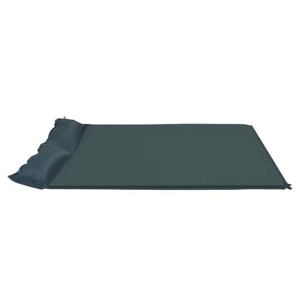 SG Luchtmatras met kussen opblaasbaar 130x190 cm donkergroen