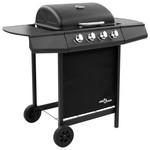 SG Gasbarbecue-grill met 4 branders zwart