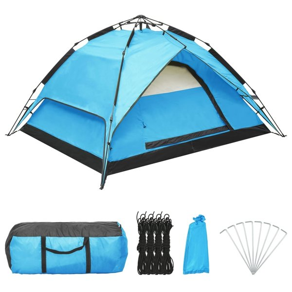 SG Tent pop-up 2-3 persoons 240x210x140 cm blauw