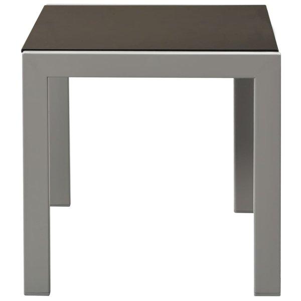 SG Ligbedden 2 st met tafel staal en textileen zwart