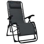 SG Ligstoel inklapbaar textileen zwart