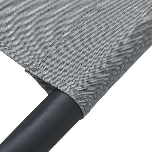 SG Loungebed met luifel en kussen grijs