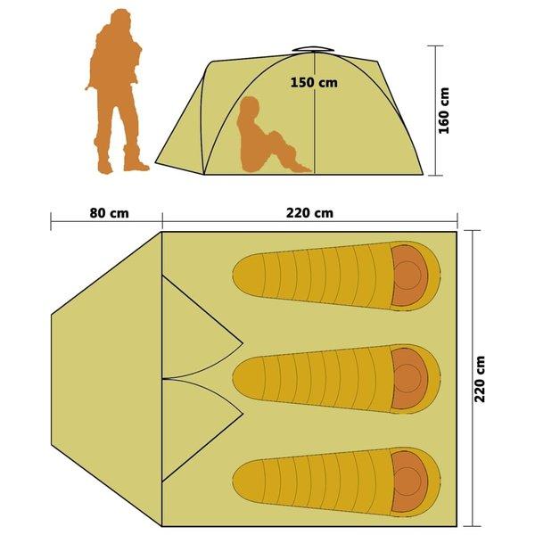 SG Tent pop-up 3-persoons geel