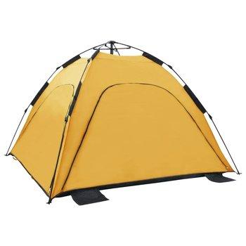 vidaXL Strandtent pop-up 220x220x160 cm geel