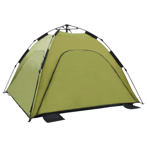 vidaXL Strandtent pop-up 220x220x160 cm groen