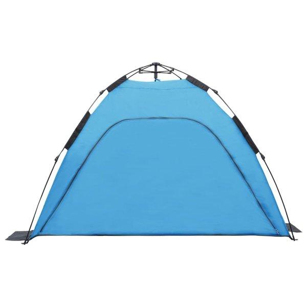 vidaXL Strandtent pop-up 220x220x160 cm blauw