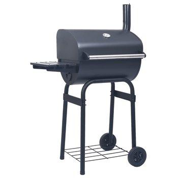 vidaXL Houtskoolbarbecue roker met onderschap zwart