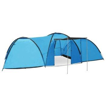 vidaXL Iglotent 8-persoons 650x240x190 cm blauw
