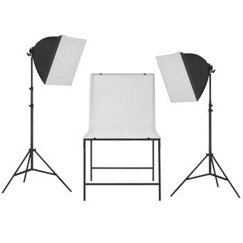 vidaXL Fotostudioset met softboxlampen en opnametafel